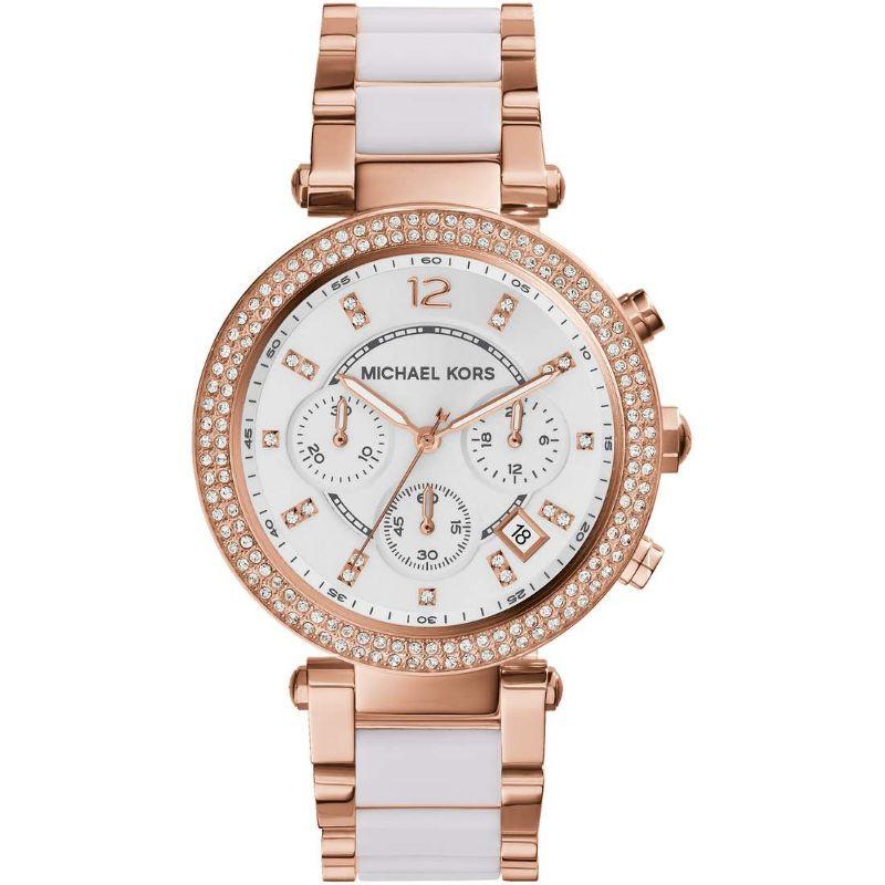 Orologio-Parker-acetato-bianco-tonalità-oro-rosa